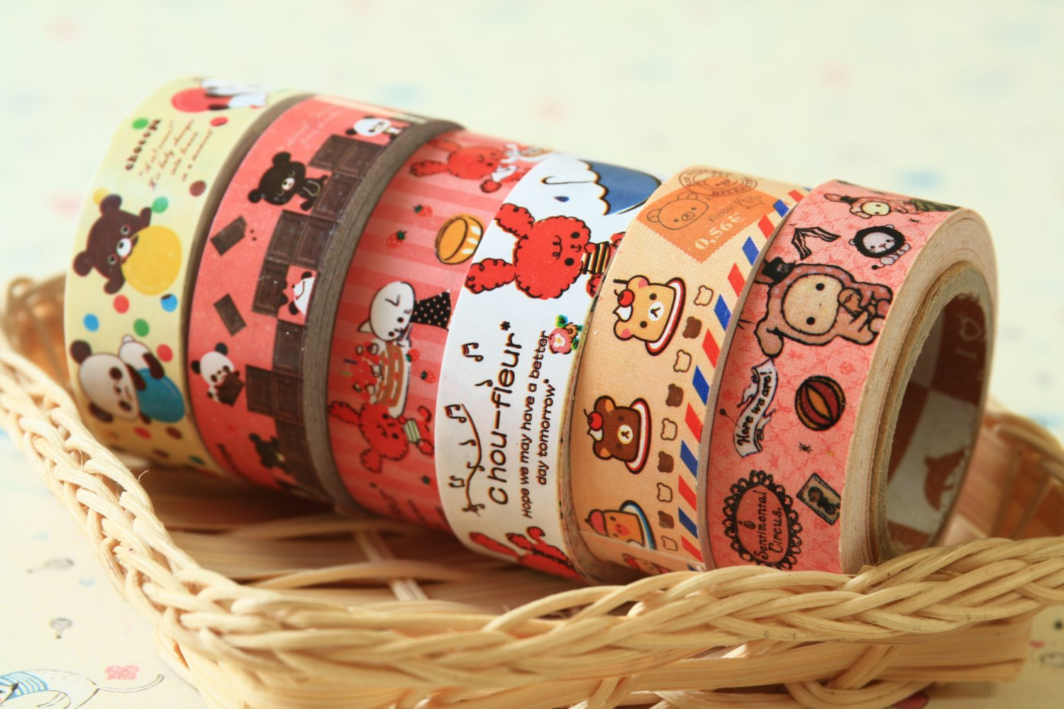Mix Set cute cartoon mini deco paper tape