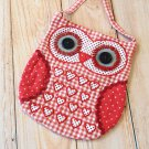 Red Heart Ditsy Owl Vintage Floral shoulder bag
