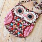 Brown Ditsy Owl Vintage Floral shoulder bag