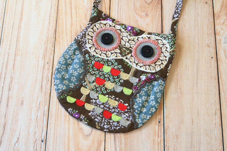 Sylvester Ditsy Owl Vintage Floral shoulder bag