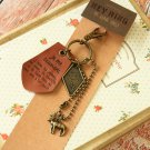 Brown I Remember the Memory key chain bag charm
