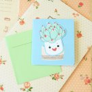 03 Succulents Bookmark & cartoon greeting card
