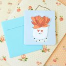 06 Succulents Bookmark & cartoon greeting card