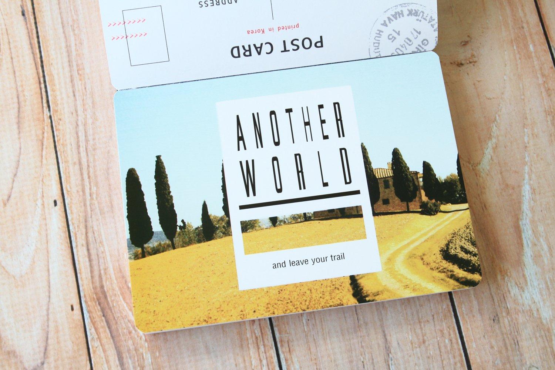 White Travel Postcard Journal Book Photo Postcards