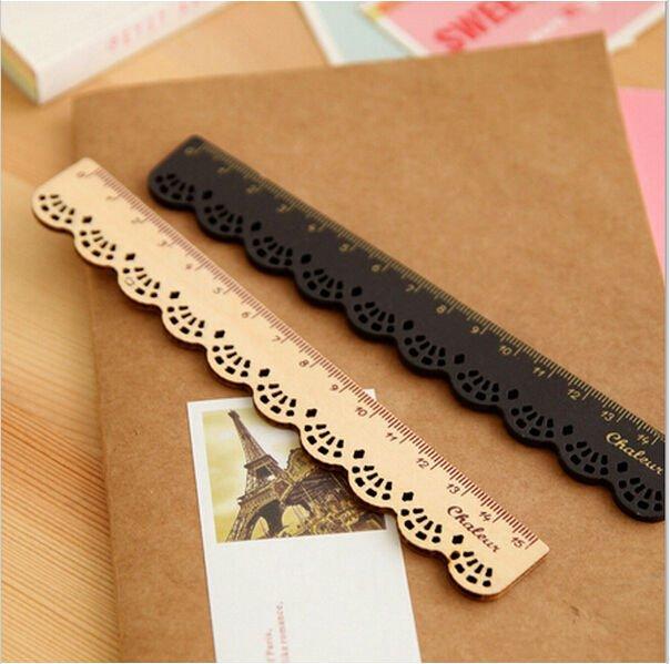 Natural Wooden Lace Pocket Ruler