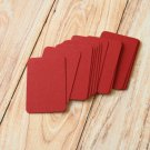 Burgundy Claret Dark Red blank business cards