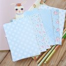 Blue Polka Dots mix floral & deco postcard blanks