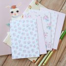 Pink Stripe mix floral & deco postcard blanks