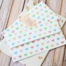 Candy Hearts Natural Pattern Envelopes