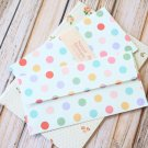 Polka Dot White Natural Pattern Envelopes