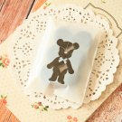 Cute Bear mini cellophane cookie bags sweets bags