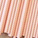 Light Pink Chevron paper straws