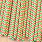 Red & Green Double Chevron paper straws