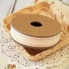 East of India Cream Stitched ribbon