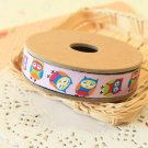 Little Happy Owls jacquard woven ribbon trim