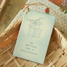 Small Package East of India printed gift tags