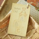 Naming Day East of India printed gift tags