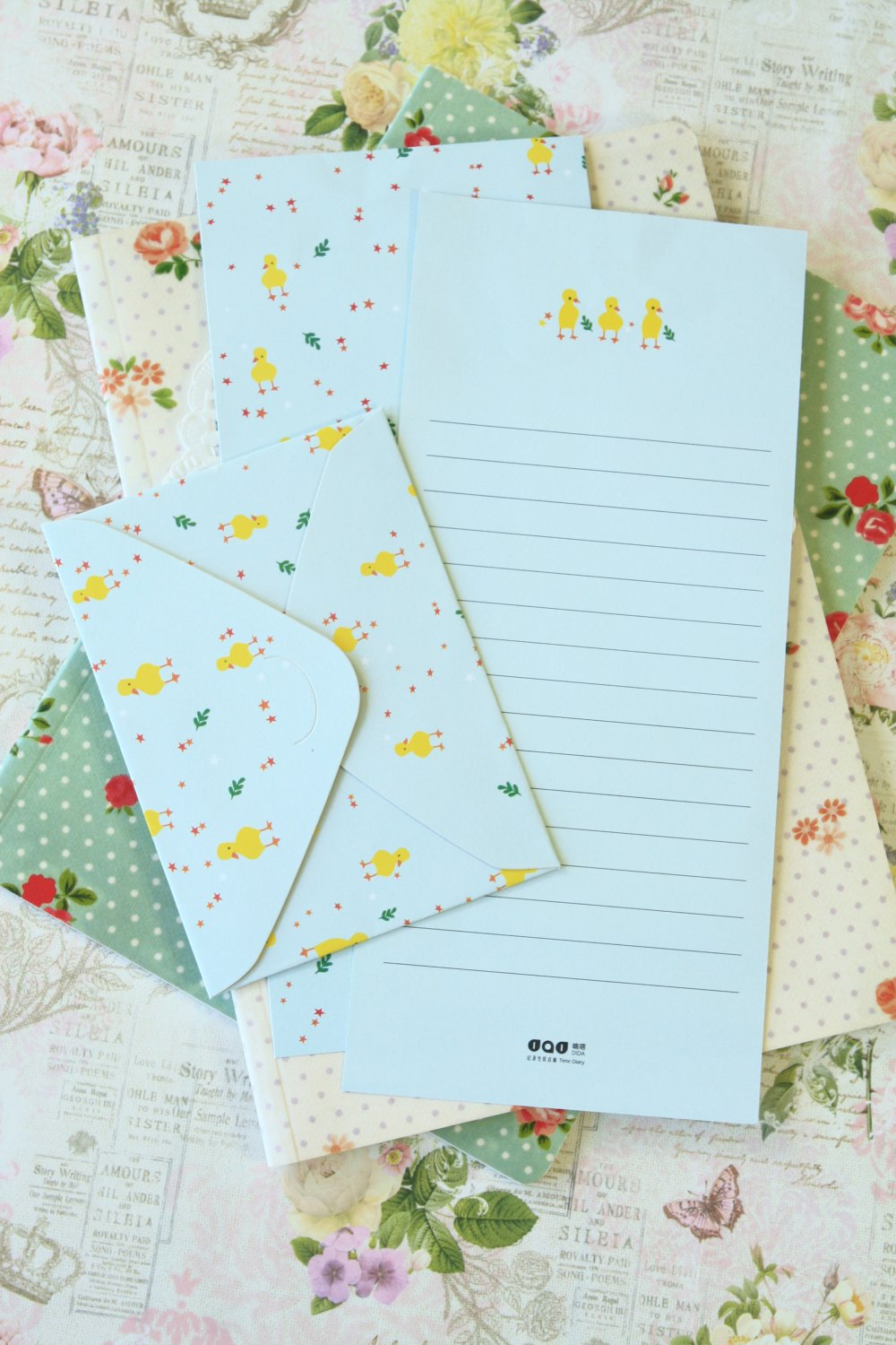 Chicks Time Diary writing paper and envelopes letter set