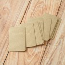 Ribbed Brown Kraft blank business cards