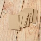 Prairie Moccha Coffee Kraft blank business cards