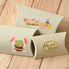 Chipboard Grey DIY Medium pillow boxes