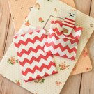 Red Chevron Itty Bitty Bags small paper bags