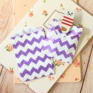 Purple Chevron Itty Bitty Bags small paper bags