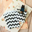 Black Chevron Itty Bitty Bags small paper bags