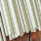Ivory Swiss Dots paper straws
