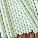 Light Green Swiss Dots paper straws