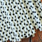 Black Swiss Dots paper straws