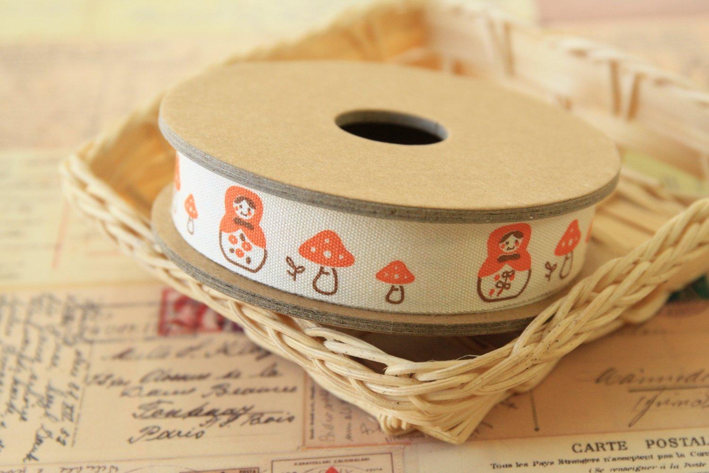 Matryoshka Mushroom cartoon cotton sewing tape ribbon