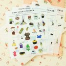 Cafe Story cartoon deco stickers