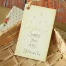 Sorry You are Leaving East of India printed gift tags