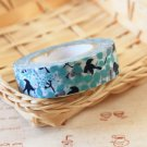 Aqua Birds Classiky Ten to Sen Cartoon Washi Tape Set