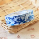 Blue Flowers Classiky Ten to Sen Cartoon Washi Tape Set