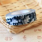 Navy Blue Squirrel Classiky Ten to Sen Cartoon Washi Tape Set