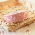 Pink Flowers Classiky Ten to Sen Cartoon Washi Tape Set