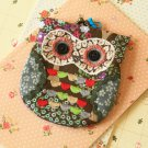 Sylvester Ditsy Owl Vintage Floral Clasp Purse
