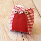 Red Gingham Owl ornament