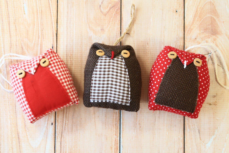 3pc Mix Set Owl ornaments