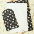 Shield Black & White writing paper and envelopes letter set