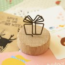 Gift Wood Memo Clip Card Holder