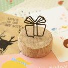 Gift Wood Memo Clip Card Holder