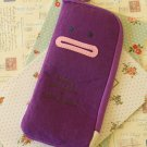 Purple Cartoon Pocket pen bag