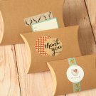 Textured Kraft Brown DIY Large pillow boxes