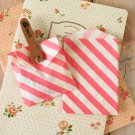 Hot Pink Stripe Itty Bitty Bags small paper bags