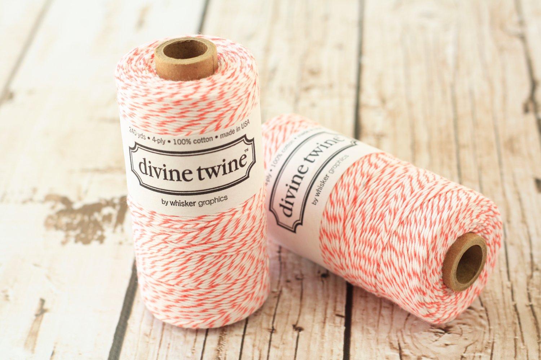 Coral Divine Twine 240yd string spool