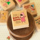 Don't Touch Pony Brown Girl Rubber Stamp