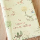 The Farm Cross Stitch Cotton Linen blend fabric quarter